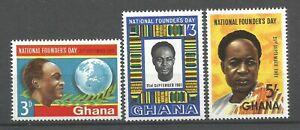 GHANA  1961 Série   YT n° 99 à 101 neufs ★★ Luxe  / MNH