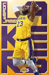 LEBRON JAMES - LOS ANGELES LAKERS - 2020 POSTER - 22x34 - NBA BASKETBALL 18205