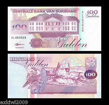 Suriname 100 Gulden 1998 P-139b Mint Uncirculated UNC Banknotes
