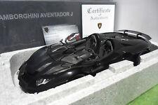 LAMBORGHINI AVENTADOR J Cabriolet noir au 1/18 AUTOart SIGNATURE 74676 auto art