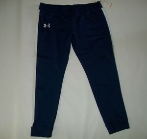 UNDER ARMOUR Warm-Up CHALLENGE Purple Gym Fitness JOGGER PANTS Womens Sz XL NEW