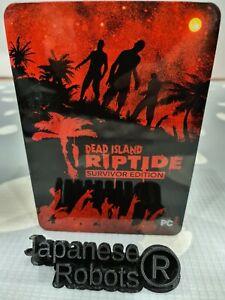Dead Island Riptide survivor limited Collector Steel Metal Tin steelbook case G1
