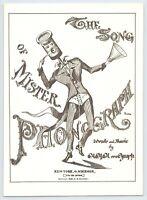 The Song of Mister Phonograph 1990 Reprint of 1876 G. Schirmer Artwork Edison