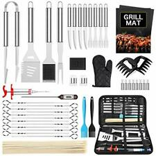 BBQ Tool Set, Barbecue Grill Cooking Accessories & Case, 45 Pieces, BBQ Gift Kit