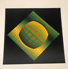 "RARE! Victor Vasarely (1908-1997) ""VEGA-ZETT-01"" Original heliogravure on paper"