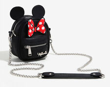 """Disney """"Minnie Mouse"""" Purse Ears & Bow Loungefly Crossbody Backpack Shoulder Bag"""