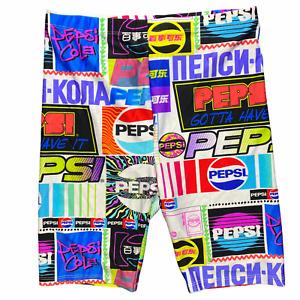 Forever 21 Pepsi Logo Women's Print Biker Bike Shorts Athletic Multicolor Sz M