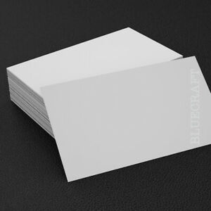 100 x Business Card Blanks 250gsm White - 55 x 85mm - Print your own