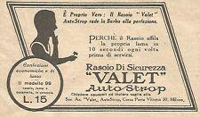 W1683 Rasoio VALET AutoStrop - Pubblicità del 1926 - Old advertising