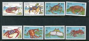 Nevis 1990 land crabs complete SG 546-553 UM/MNH