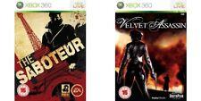 velvet assassin & the saboteur   xbox 360 pal