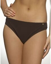 Figleaves Swimwear Waikiki Classic Bikini Brief Bottoms Chocolate Brown 8 or 10