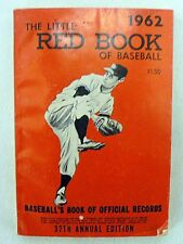 VINTAGE 1962 BASEBALL LITTLE RED BOOK OF OFFICIAL RECORDS