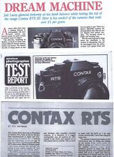 Amateur Photography Magazine Test reports for Contax RTS  Mk 1 , 2 &  3  Camera