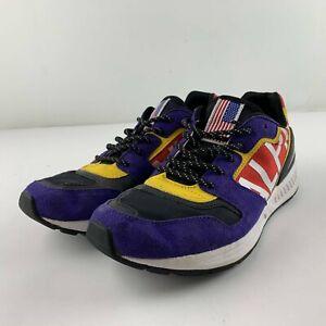 Polo Ralph Lauren Train 100 Downhill Skier Men 8 D Purple Tech-Suede Sneakers