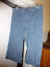 LEE Medium - 10 Capris Cropped Pants Blue Denim Cotton / Spanex