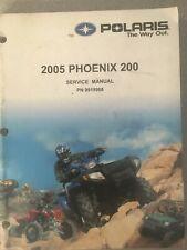 2005 Polaris Phoemix 200 Service Shop Manual Pn 9919968 Used