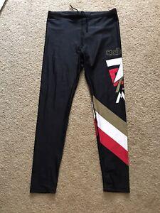 Vintage 1980's ADIDAS Running Sprinter Yoga Nylon Tights Pants Men's Sz  L