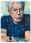 Anthony Bourdain poster print 18x12 Original art made by Xilberto