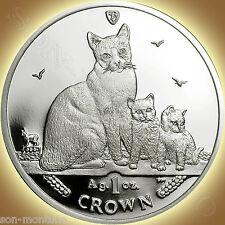 2014 Isle of Man - Snowshoe Cat Coin - 1 oz Bullion Silver Proof + Mint Box/Coa