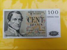 Belgique - Ancien Billet Belge de 100 Fr Daté 8/12/1958 en très bon Etat