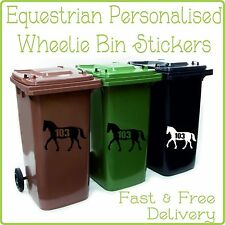 Equestrian Wheelie Stickers Personalized with Your House No. Horse Numbers