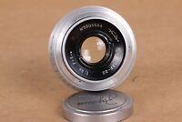 Industar-22 3.5/50 red P lens M39 mount rangefinder KMZ Leica Zorki Vintage