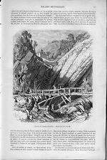 GRENOBLE-----Carrière de ciment --1862--                      REGIONALISME