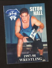 Seton Hall Pirates--1997-98 Wrestling Pocket Schedule--First Union