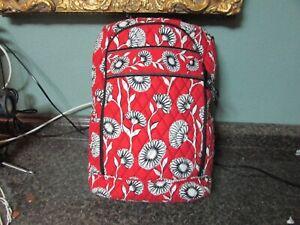 Vera Bradley Deco Daisy Laptop Storage Book Bag Back Pack