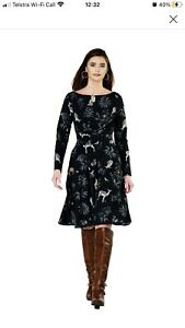 EShakti 2X-20W Woodland Crepe Midi Dress
