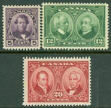 CANADA : 1927. Scott #146-48 Very Fine, Mint NH. Post Office Fresh. Catalog $75.