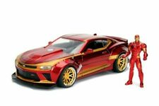 "2016 Chevrolet Camaro SS W Iron Man Figure Marvel Avengers Jada Diecast 8"" 1 24"