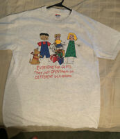 vintage t shirt 90s Everyone Has Gifts By E.L. Andersson Size Medium
