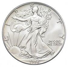 Key Date 1986 American Silver Eagle 1 T Oz .999 *544