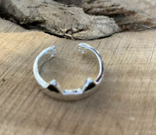 Cat Ears/ Paw Print Sterling Silver Ring/.925/ Adjustable