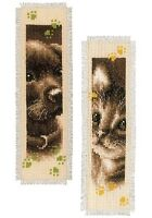 Cat And Dog  (Set of 2) : Vervaco Counted Cross Stitch Kit : Bookmarks PN0155362