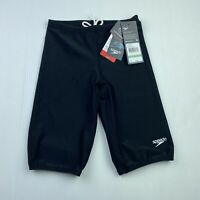 Speedo Boys Size 8 Black Learn To Swim Jammer Drawstring Shorts NWT