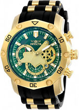 """Invicta Men's Pro Diver Stylish Chronograph Watch """"Green"""" Black Strap , 23425"""