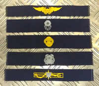 NEW Genuine Pair of Royal Navy RN Logistics Personnel /& Admin Patches//Badges