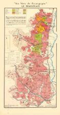 Bourgogne Bourgogne WINE MAP Beaujolais fédérale. fleurie Brouilly Larmat 1953
