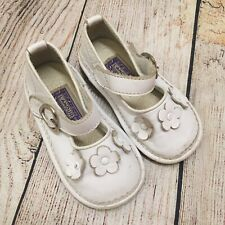 L'amour Girls Baby Toddler White Leather Mary Jane Dress Shoes Size 5
