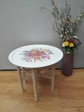 Vintage RETRO Large ORNAMIN SERVING Tray SIDE Table SPINDLE Folding BASE Adelaid