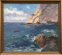 Bateau de Pêche avant Capri - Méditerranée Île - Italie - E. V.Conrady