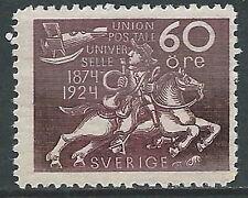 1924 SVEZIA CINQUANTENARIO UPU 60 ORE MNH ** - Y00