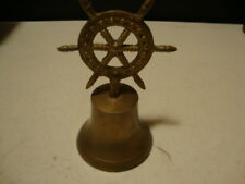 Collectible brass old Anchor wheel Bell / nice