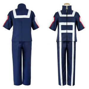 My Hero Academia Bakugou Katsuki Cosplay Student Gym Suit Uniform Set Costume