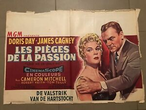 Belgian Movie Poster 14x22: Love Me or Leave Me (1955) Doris Day, James Cagney