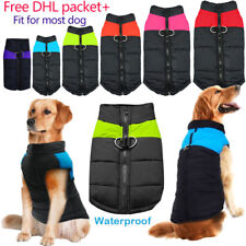 Waterproof Dog Clothes Lot Large/Small Winter Warm Padded Coat Pet Vest Jacket S