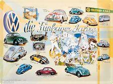 Nostalgic Art Blechschild VW FÜNFZIGER VOLKSWAGEN BULLI HERBIE KÄFER 30 x 40